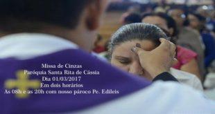 Quarta Feira - Missa de Cinzas